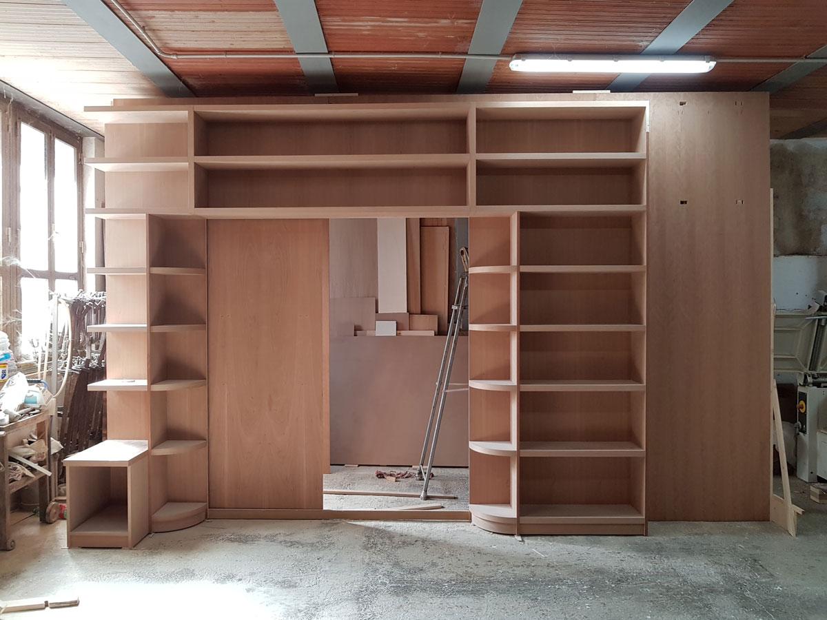 libreria in mogano